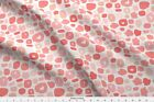 Watercolor Brush Marks Blush Pink Baby Pink Fabric Printed by Spoonflower BTY