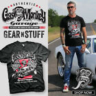 Gas Monkey Garage Badass Spark Plugs Motor Hot Rod Licensed Black Men's T-shirt