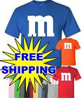 M & M T-Shirt Halloween T shirt Costume M and M,  9 COLOR CHOICES