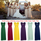 Women Bridesmaid Convertible Dresses Infinity Multi Way Evening Cocktail Party