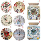 Various Type Large Round Wooden Wall Clock Vintage Retro Antique Distressed Chic