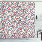 Vintage Shower Curtain Retro Bohemian Floral Print for Bathroom