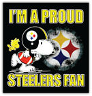Pittsburgh Steelers NFL Snoopy Car Bumper Sticker Decal - 3'' or 5'' on eBay