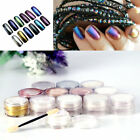Mirror Chrome Effect Nails Powder 3g With 2 Brush Tool Nail Art 12 Colors