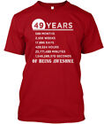 49th Birthday 49 Years Old Awesome Hanes Tagless Tee T-Shirt