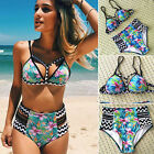 Sexy Womens Padded Push-up Bikini Set High Waist Swimsuit Bathing Suit Swimwear
