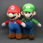 "Super Mario Bros LUIGI&MARIO Plush Doll Stuffed 2 PCs Set lot Toy 10"" Christmas"
