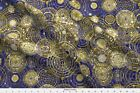 Celestial Sun Ra Star Map Royal Dreamtime Fabric Printed by Spoonflower BTY