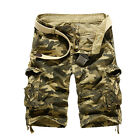 Men Military Combat Camo Cargo Shorts Pants Urban Casual Army Trousers Bottoms