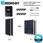 Renogy 200W Watt Solar Panel Starter Kit MPPT Charge Controller System Off Grid