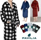 Внешний вид - Premium Men's Microfiber Fleece Hooded Bathrobe Plush Night Robe Towel Pajama