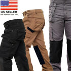 Mens Work Cargo Pant Knee Pad Pocket Heavy Duty Combat Outdoor Work wear Trouser