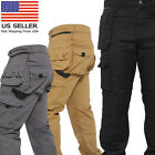 Mens Work Trousers Removable Holster Pocket Heavy Duty Cargo Combat Utility Pant