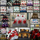 4 Pc Bedding 3D Duvet Set With Quilt Cover & Fitted Sheet Single Double King Bed image