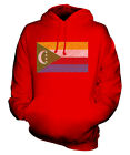 COMOROS SCRIBBLE FLAG UNISEX HOODIE TOP GIFT CONGOLESE FOOTBALL