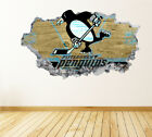 Pittsburgh Penguins Wall Art Decal Hockey Team 3D Smashed Wall Decor WL59 $48.95 USD on eBay