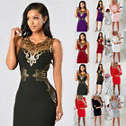 Women Sexy Lace Floral Bodycon Dress Party Cocktail Evening Prom Club Mini Dress