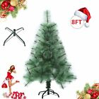 4/5/6/7/8 Feet Pre-lit Christmas Tree W/ Stand Holiday Season Indoor Outdoor OY
