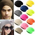Womens Mens Slouch Beanie Hat Baggy Stretch Fit Warmer Ski Knitted Thermal Caps
