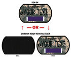 "NORTHERN SAFARI™Custom Embroidered Purple Heart Dog Tag 2-1/2""x4"" Patch"