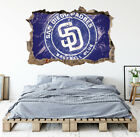 San Diego Padres Wall Art Decal MLB Baseball Team 3D Smashed Wall Decor WL71 on Ebay