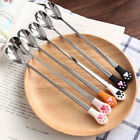 Cute Cat Claw Stainless Steel Coffee Drink Spoon Tableware Kitchen Supplies