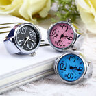 Creative Fashion Steel Round Elastic Quartz Finger Ring Watch Lady Girl Gift D96 image