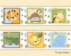 Внешний вид - Safari Animal Nursery Decal Wallpaper Border Baby Wall Art Stickers Kids Jungle