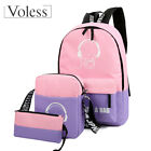 3PCs/Set School Backpack Book Bags for Students Anime Luminous Laptop