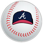 Atlanta Braves Cap MLB Logo Ball Car Bumper Sticker Decal - 9'', 12'' or 14'' on Ebay