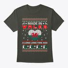 Made In Wales Christmas Ugly Sweater Hanes Tagless Tee T-Shirt