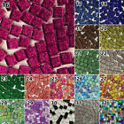 Внешний вид - 150g/set Glass Mosaics Tiles Glitter Square Crystal Translucent Decor DIY10*10mm