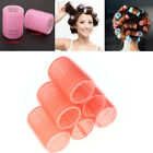 6 Pcs Large Self Grip Hair Rollers Pro Salon Hairdressing Curlers Random Color !