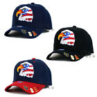 USA American Flag hat cap Stars and Stripes EAGLE 3D Embroidered Baseball cap