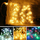 20 Led Battery Operated Star String Fairy Lights Christmas Home Party Decoration