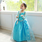 Kid Girl Frozen Anna Elsa Princess Party Fancy Dress Up Cosplay Costume New Lot