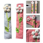 Внешний вид - 2X Refrigerator Door Handle Cover Door Gloves Flower Pattern Kitchen Home Decor