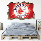 Boston Red Sox Wall Art Decal MLB Baseball Team 3D Smashed Wall Decor WL92 on Ebay
