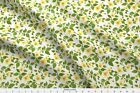 Yellow Dog Rose Tangled Bouquet Baroque Fabric Printed by Spoonflower BTY
