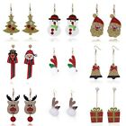 Women Pair Of Christmas Earrings Santa Xmas Trees, Snowmen Gift Jewelry