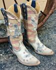 "YL 339-1 OLD GRINGO YIPPEE KI YAY JORIE PATRIOTIC RED WHITE BLUE 13"" LEATHER BOO"