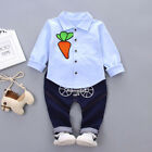 2PCS Toddler Kids Baby Boy Tops Shirt+Long Pants Trousers Outfits Clothes K8