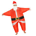 Xmas Santa Father Inflatable Suit Jumpsuit Costume Fancy Dress Party Gift