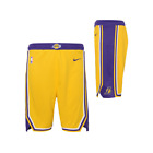 2018 New Los Angeles Lakers Basketball shorts Yellow Size:S-XXL