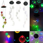 Solar LED Color Changing Wind Chimes Home Garden Yard Window Decor Lights Lamp