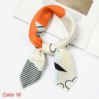 Small Vintage Silk Feel Satin Hair Tie Band Women Square Scarf Head Neck