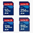 Sandisk 64MB 128MB 256MB 512MB 1GB 2GB SD Card with Case