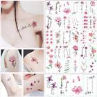 30 Sheet Temporary Tattoo Stickers Letters Feather Body Art Tattoos Waterproof