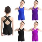 Girls Kids Leopard Ballet Gymnastics Leotard Athletic Unitard Dancewear Biketard