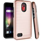 For Coolpad Illumina 3310A Slim Lining Brush Hybrid Case Phone Cover